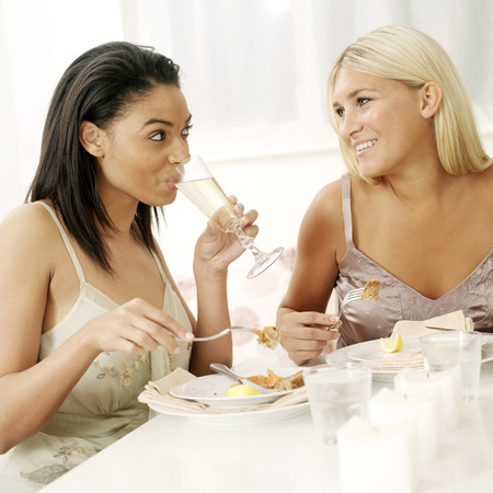 housemate: Two friends having meal together