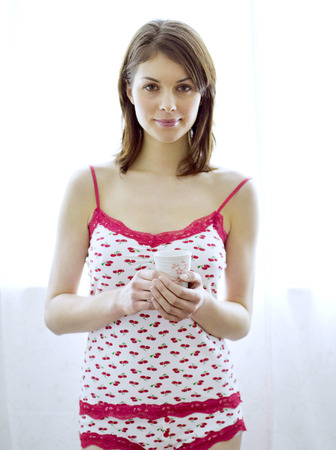 inner wear: A woman in camisole