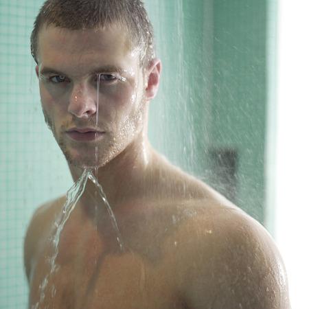 Man enjoying his shower time 写真素材
