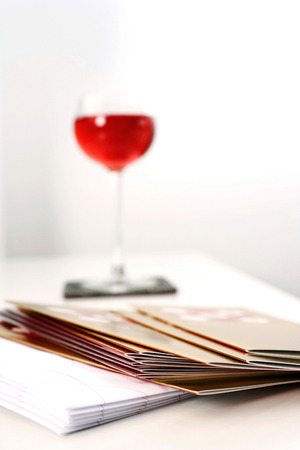 sameness: A pile of greeting cards Stock Photo