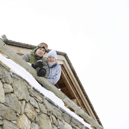Couple in warm clothing  photo
