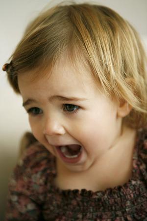 ni�a gritando: Chica gritando Foto de archivo