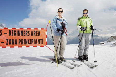 Female skiers photo