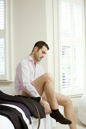 Man getting ready for work Stock Photo - 26269075