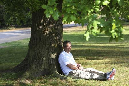 Senior man relaxing in the park