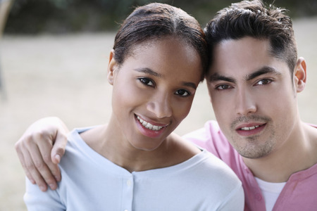 french ethnicity: Man and woman posing together