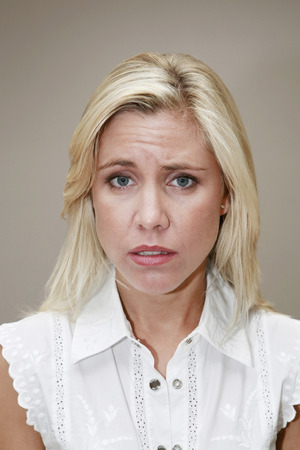 Woman looking bored photo