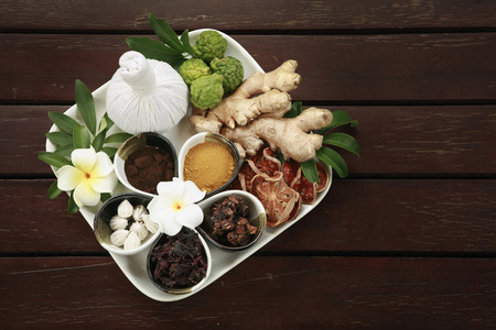 kafir lime: Preparation for Thai traditional massage