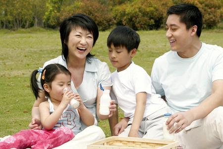 Un picnic familiar en el parque