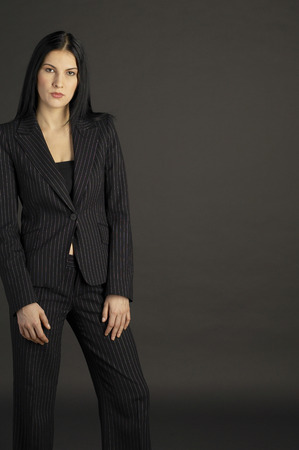 Studio shot of a lady in office attire
