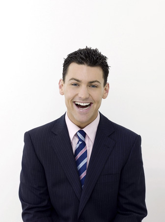 Businessman smiling Stock Photo - 26383569