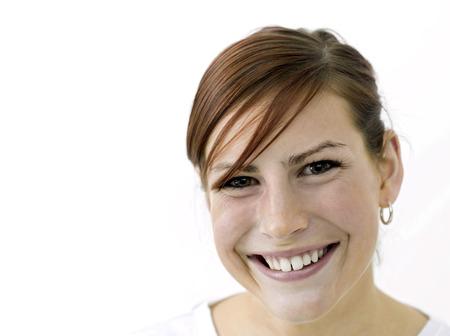 joyousness: Happy woman smiling