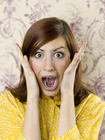 Woman in shock Stock Photo