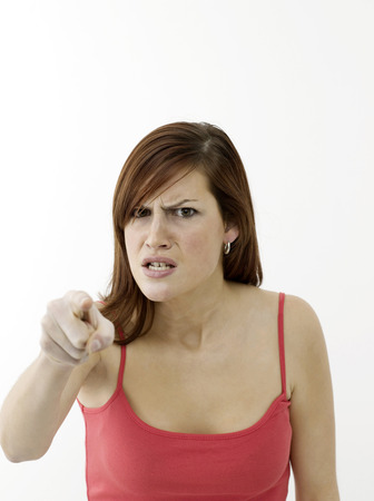 raged: Angry young woman