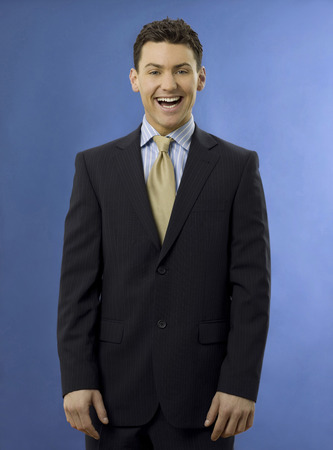 Happy and smiling businessman Stock Photo