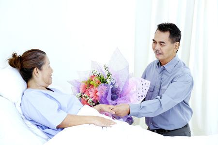 Visitor in hospital