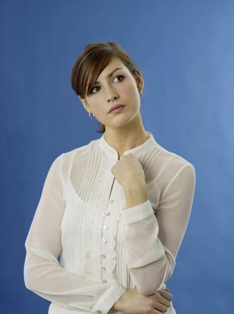 Woman thinking photo