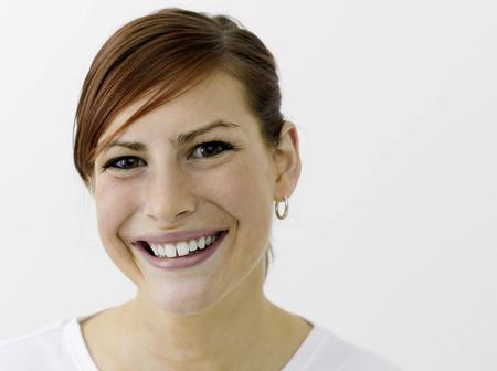 cherishing: Happy woman smiling