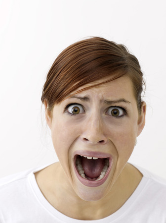zatrważający: Przerażona kobieta