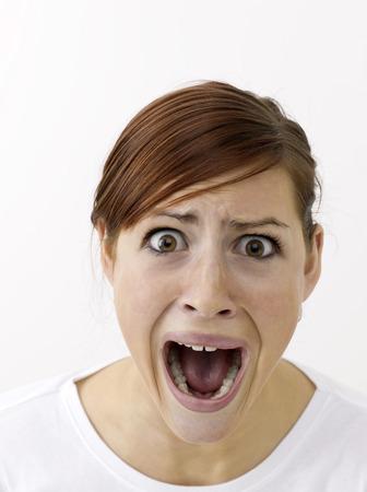appalling: Terrified woman