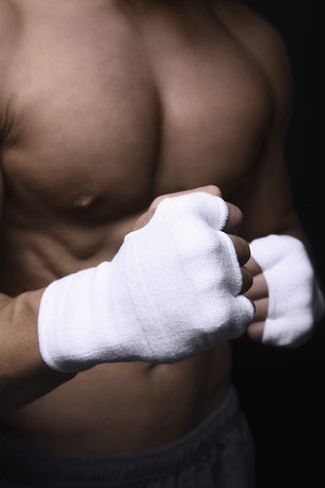knuckles: Muscular mans knuckles Stock Photo