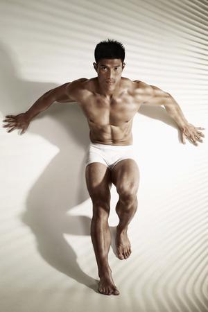 Man in boxer-brief underwear 版權商用圖片