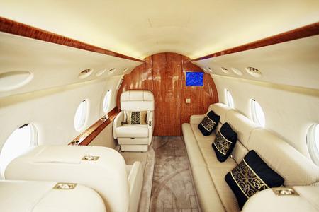 Luksusowe skórzane siedzenie na prywatnym samolotem