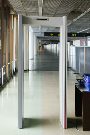 metal detector: Airport metal detector Stock Photo