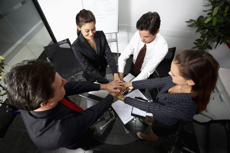 Business people in huddle photo
