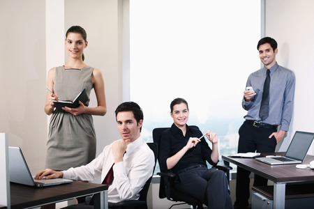 central european ethnicity: Business people at work Stock Photo