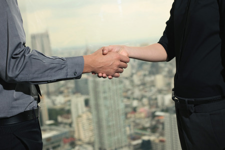 central european ethnicity: Business people shaking hands