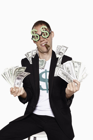 Man with a lot of money photo
