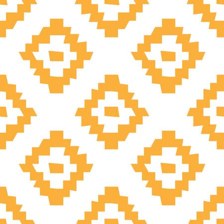 Vector ethnic seamless pattern. Tribal wonky simple geometric design.