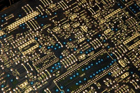 triad: close up of electronic board
