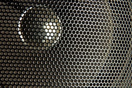 close up of black speaker