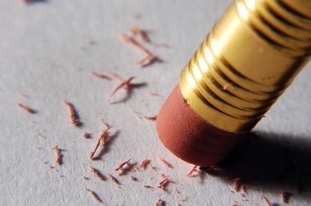 macro of eraser pencil gum