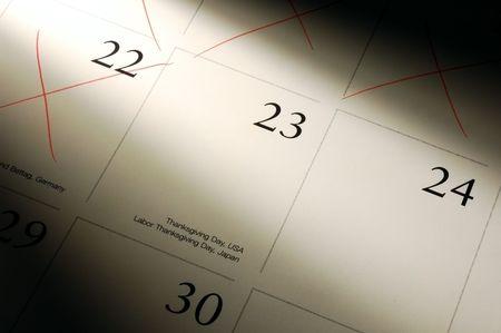 almanak: close-up van de almanak in Thanksgiving Day