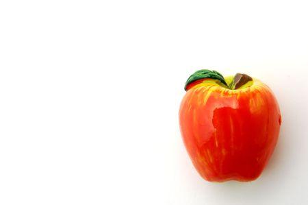 magnet fruit on white background