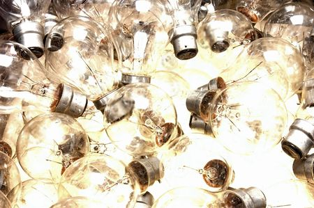 lots of bayonet lightbulbs from above Stock Photo - 606879