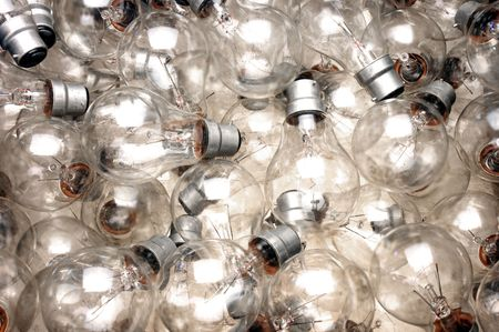 lots of bayonet lightbulbs from above