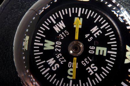 navigation compass closeup Stock Photo