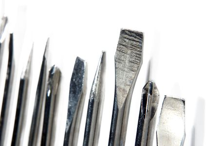 macro shoot of screwdriver on white background photo