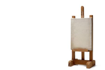 proclamation: wood frame holder on white background