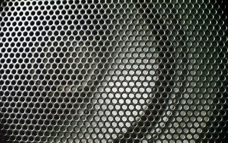 close up of black speaker photo