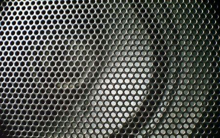 vibrations: close up of black speaker