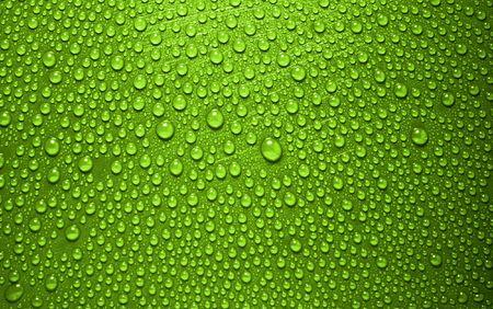 green waterdrops from above Standard-Bild