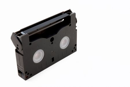 vhs videotape: small video tape on white background