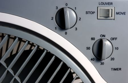 electric fan close up, front view