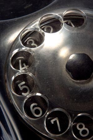Antique telephone closeup