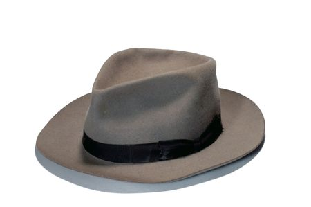 mens: a hat on white background Stock Photo